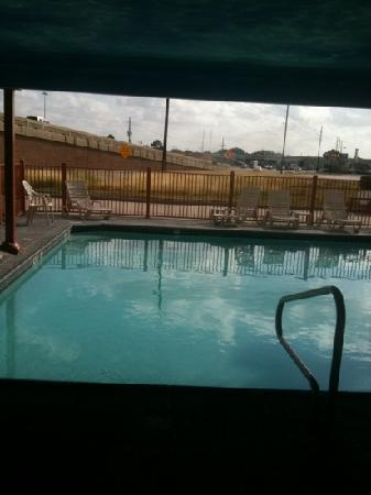Best Western Windsor Suites: view from the pool you don't see on the website