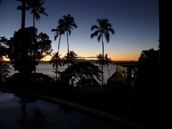 Nakia Resort & Dive: sunset from veranda