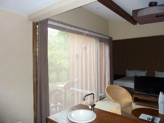 Terrace Tateshina Resort & Spa: ウッドデッキ付の部屋