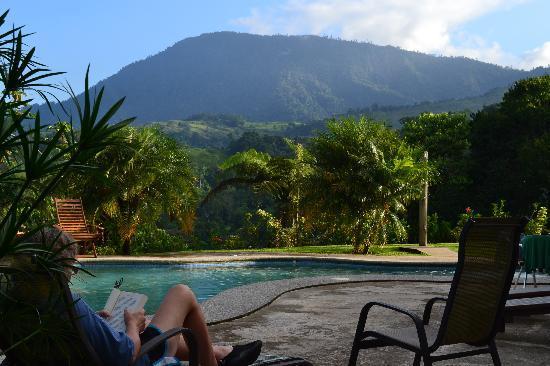 Villa Los Aires/Las Aguas Lodge: Pool, a book and a view!