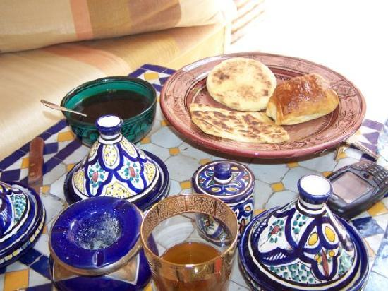Riad Zahir : Petit dejeuné