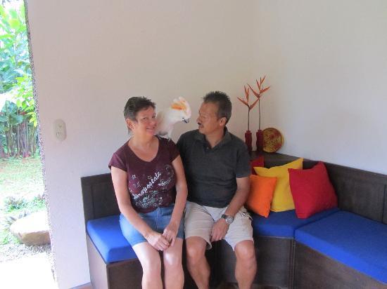 La Cacatua Lodge: de eigenaars Marja en Peter