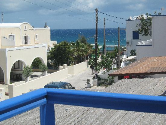 Hotel Anemones: view from my balcony of the Agean Sea