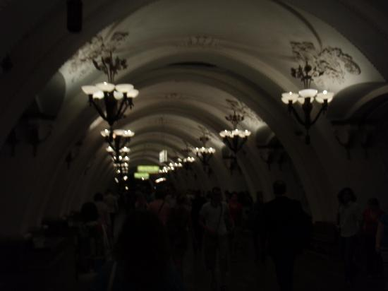 Moscow Metro: Nice Ceilngs