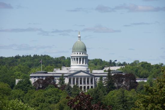 Augusta, ME : State Capital buildin of Maine.
