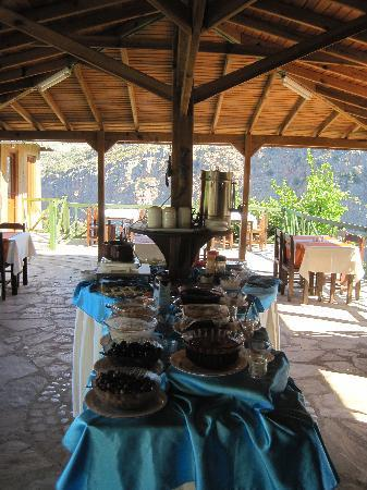 Faralya, Tyrkiet: Breakfast table