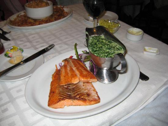 Tip y Tap: Salmon con espinacas a la crema