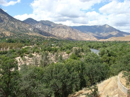 Maple's McCambridge Lodge: The view onto Kern River