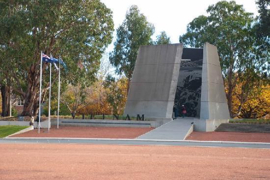 Australian Vietnam Forces National Memorial: From across Anzac parade