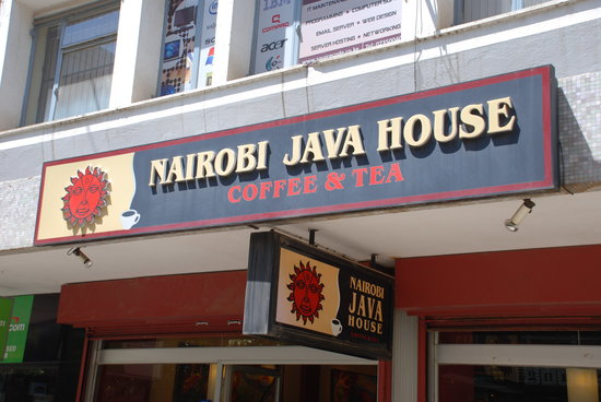 Nairobi Java House Downtown: Street sign