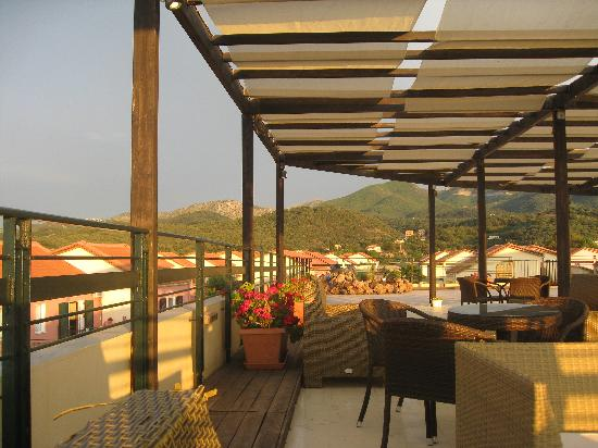 covered terrace upstairs picture of almyros natura hotel