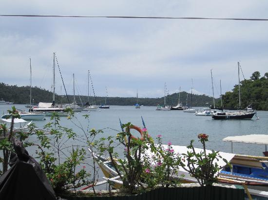 Badladz Dive Resort: View of the marina from Badladz Mexican Restaurant