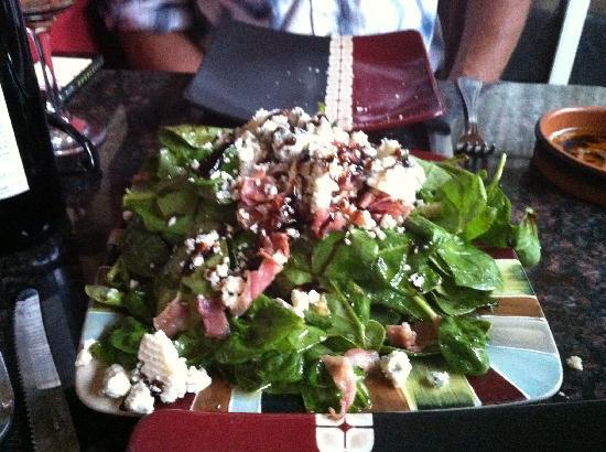 Italian Cucina: Pancetta, Gorgonzola and Spinach Salad