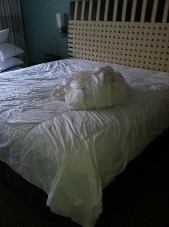 Bay Lake Tower At Disney's Contemporary Resort: Dirty Sheets on Bed at Checkin