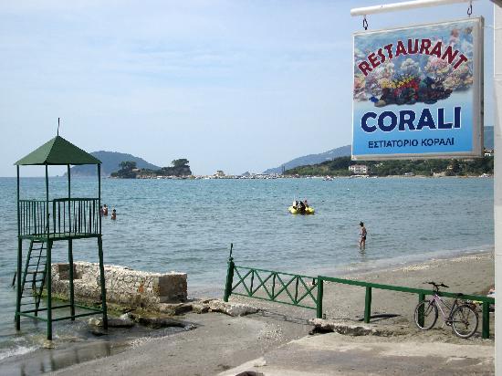 Corali restaurant : Meersicht auf Insel Ag Sostis