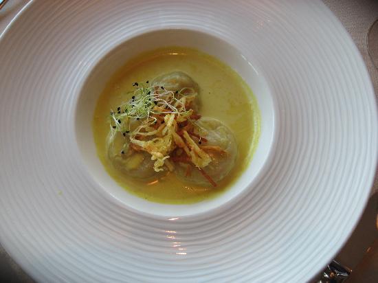 Restaurant Le Lodge : moules en ravioles