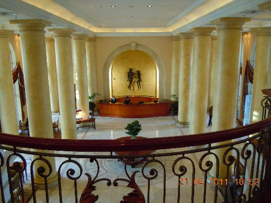 Southern Sun The Cullinan: view of reception from mezzanine floor