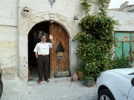 Aydinli Cave Hotel: Mustafa welcomes you to his family home.