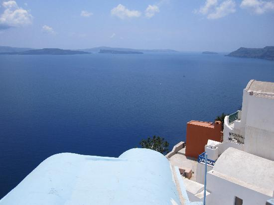 Lucky Homes - Oia: View from our balcony