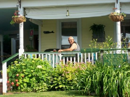 Stirling House Bed and Breakfast: my honey about to enjoy breakfast