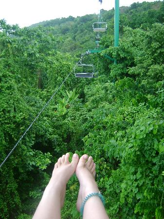 Rainforest Adventures Jamaica : Ski lift!