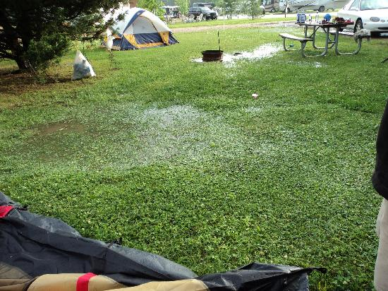 Edge-O-Dells Resort: Where our tent flooded