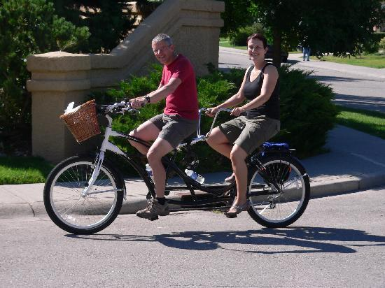 Pathway Cottage Bed & Breakfast: The perfect setting for a ride on a bicycle-built-for-two