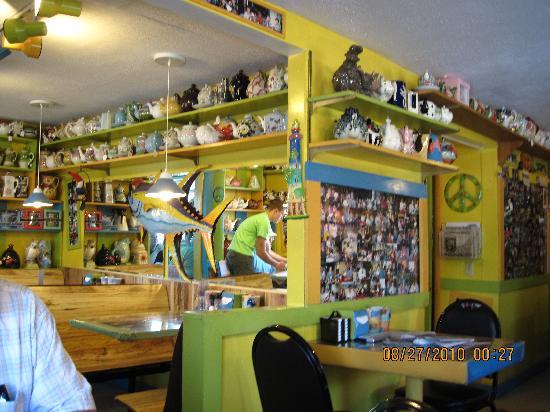 Java Joe's Cafe: 1960's Groovy decor and Tea Pots Galore