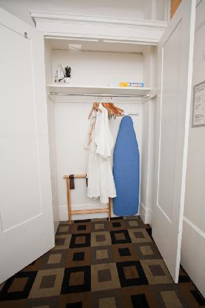 The Mosser: Room 802 (Queen shared bath), looking inside closet