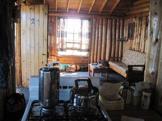 Errington's Wilderness Island Resort: View of Main area of Cabin #2
