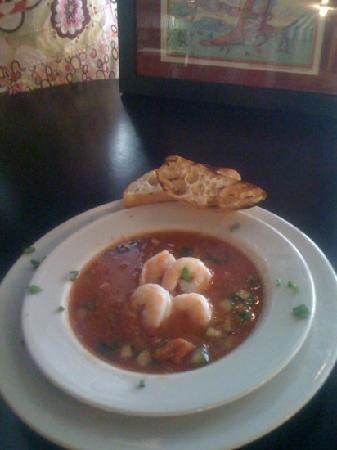 Fayetteville, WV: shrimp gazspacho