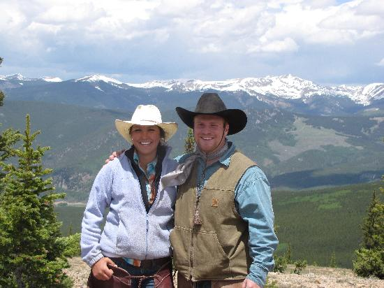 Waunita Hot Springs Ranch: Best looking wranglers from the top of Little Baldy