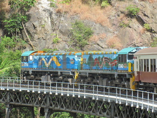 Down Under Tours - Day Tours : The train journey back to Cairns