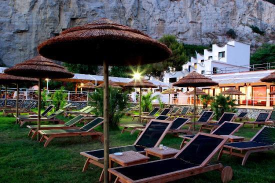 Sea Club Conca Azzurra Resort : L'area riservata agli ospiti sulla spiaggia