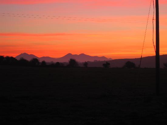 Killarney mountains at dusk
