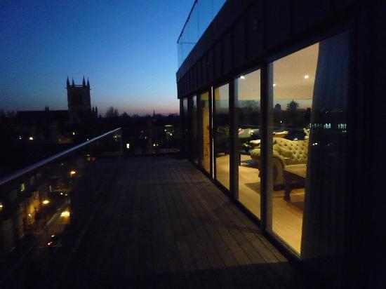 The Varsity Hotel & Spa: view to st john's chapel