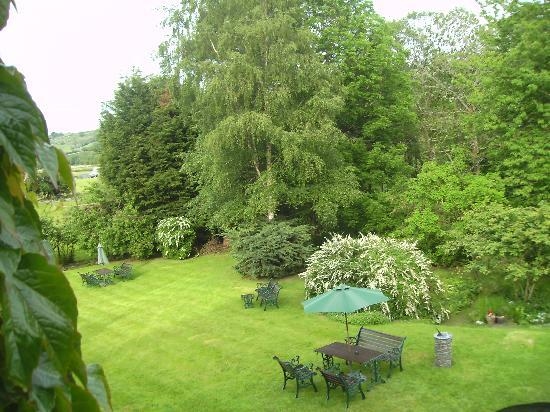 Penmachno Hall : view from our window