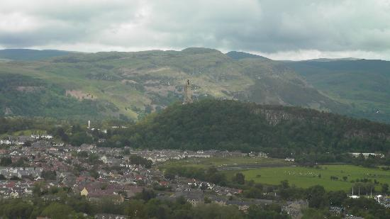 Monument View Bed and Breakfast: View from stirling castle of the wallace monument