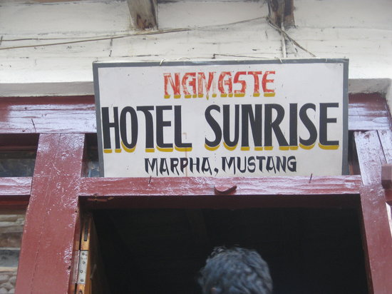 Entrance to Hotel Sunrise in Marpha