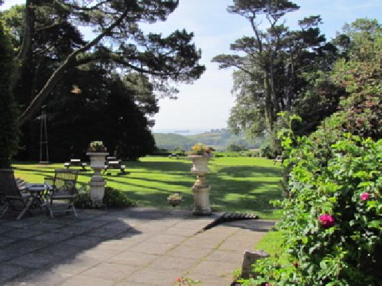 Penmorvah Manor Hotel: View Toward the Sea from Manor House