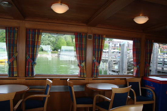 Inning am Ammersee, Germany: Interior of Ferry Boat