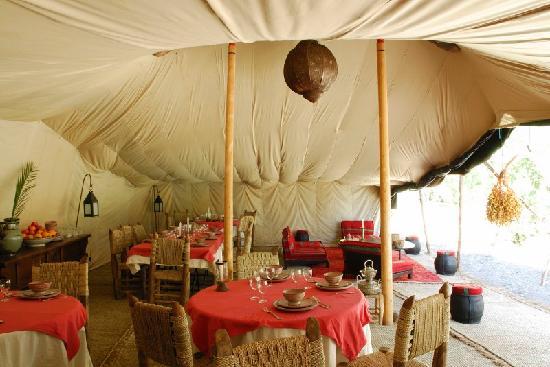 Camp de l'Oasis: Lunch area