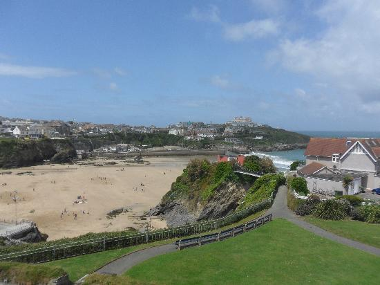 Tregella Guest House Newquay: Towan Beach. view from Tregella bedroom