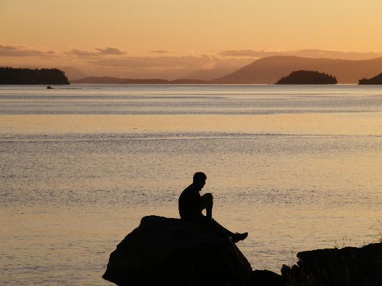 Crystal Seas Kayaking - Day Tours : Sunset on Jones Island
