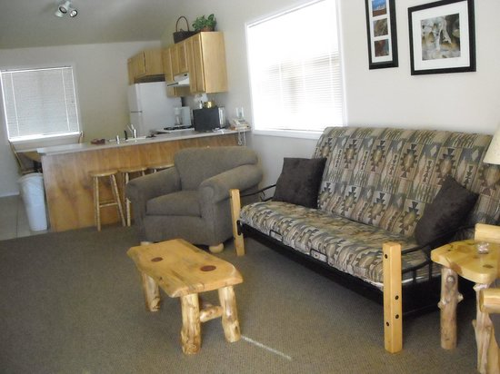 Mountain Landing Suites & RV Park: Living area!