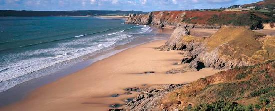 Swansea County, UK: Pobbles and Three Cliffs