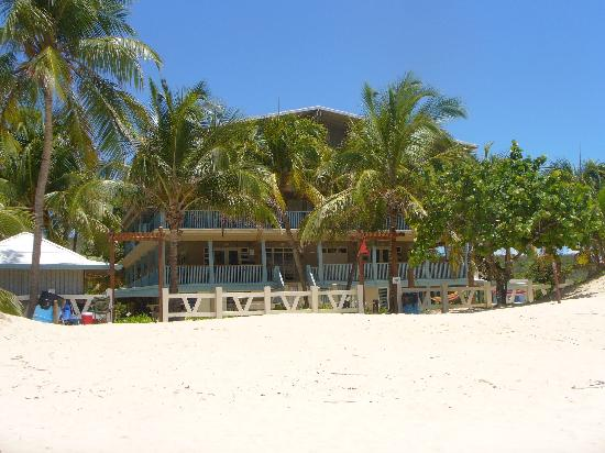 Culebra Beach Villas: The view of the villas from Flamenco Beach