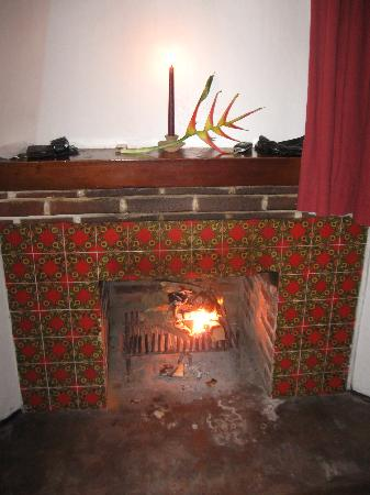 Rancho Grande Inn: fireplace was ready