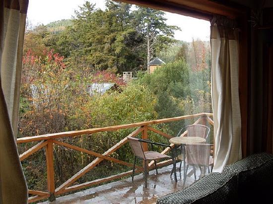 Las Cumbres Apart & Suites: Vista desde el ventanal del Living