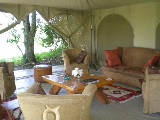 Rekero Camp, Asilia Africa: Lounge Area